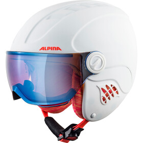 Alpina Carat LE Visor HM Casque Enfant, white-flame matt